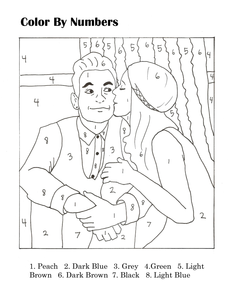 Wedding Activity Book Color by Numbers