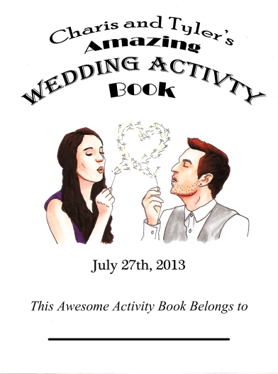 Wedding Activity Book Cover